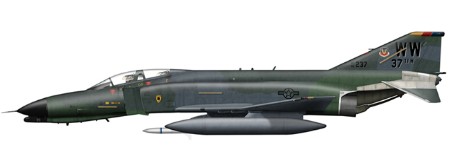 F-4G Phantom 69-7212 37th FW, George AB