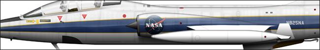 TF-104G N825NA NASA